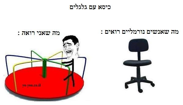 כיסא עם גלגלים