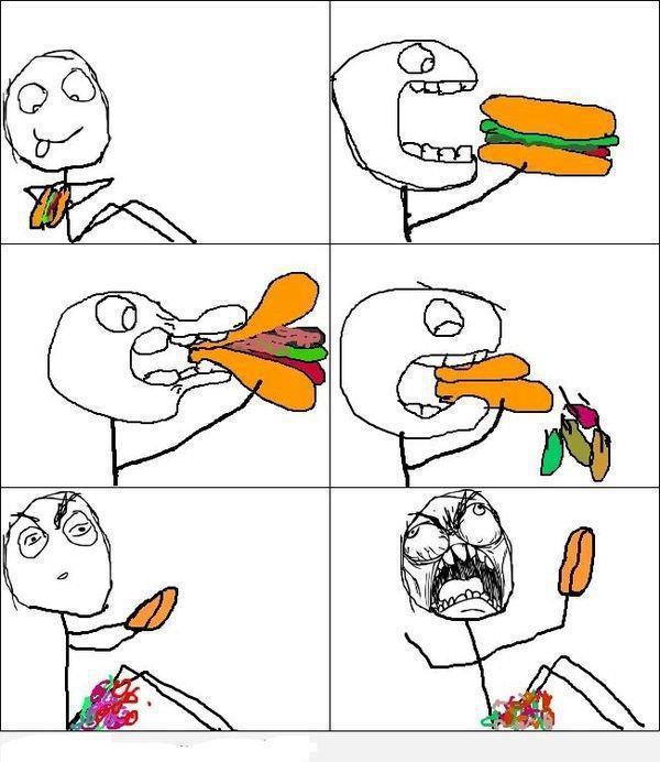 לאכול המבורגר