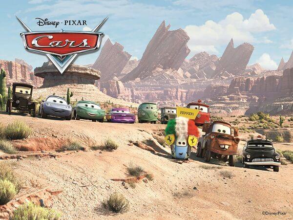 רקע מהסרט מכוניות של דיסני