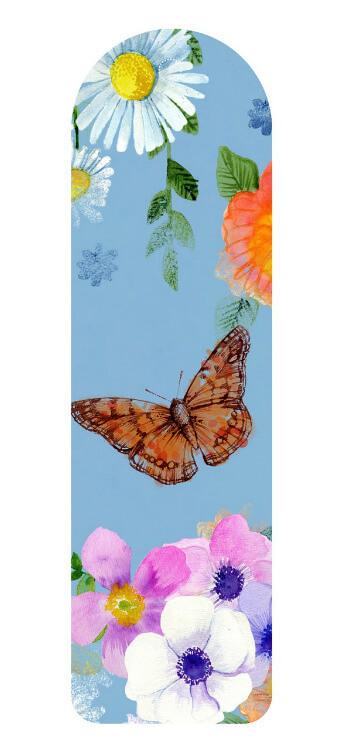 סימניה פרחים פרפרים