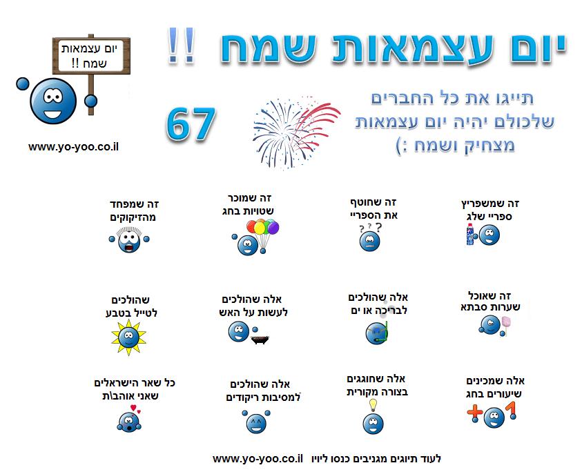 עצמאות 66 שמח