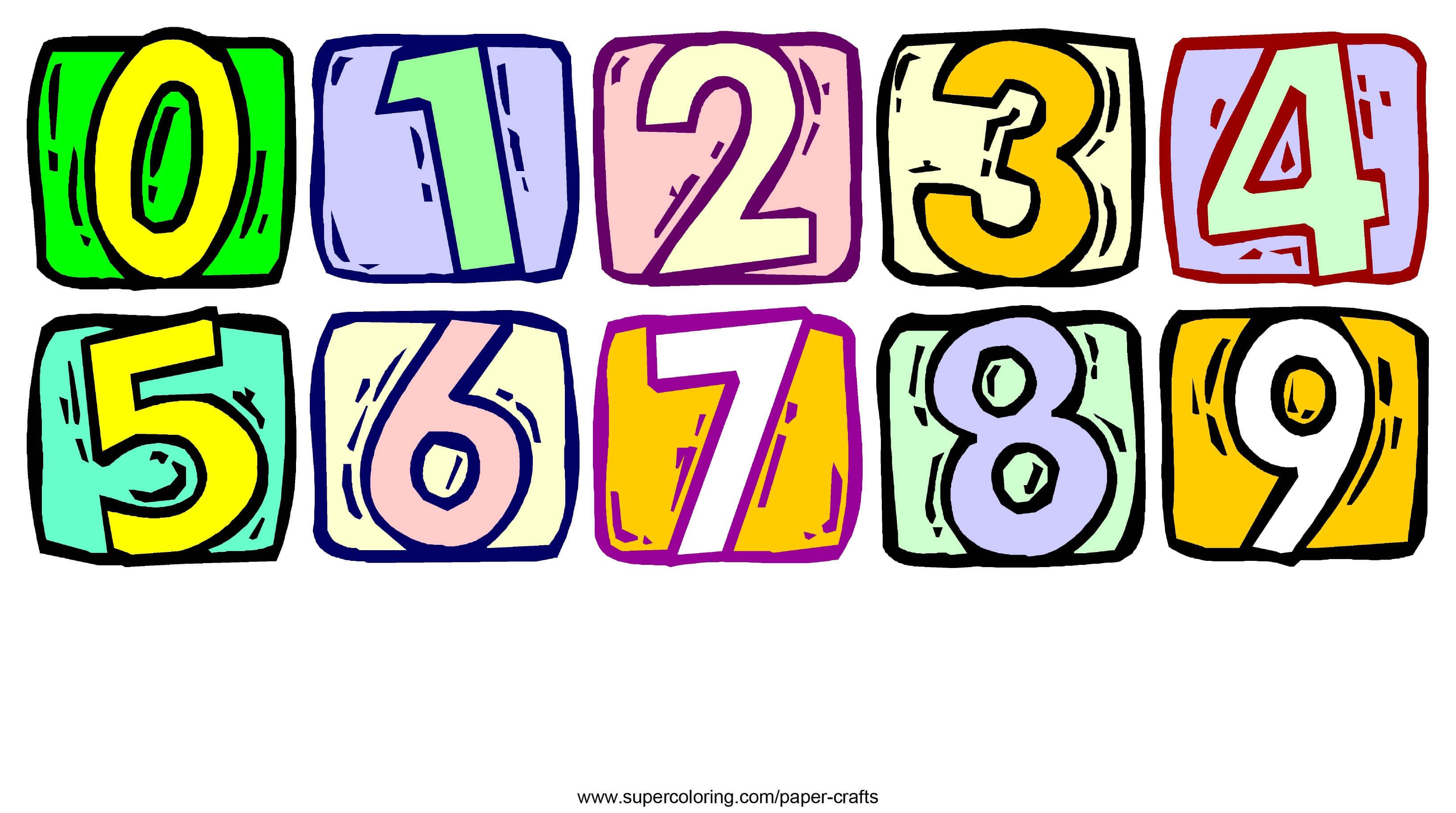 מספרים מעוצבים להדפסה