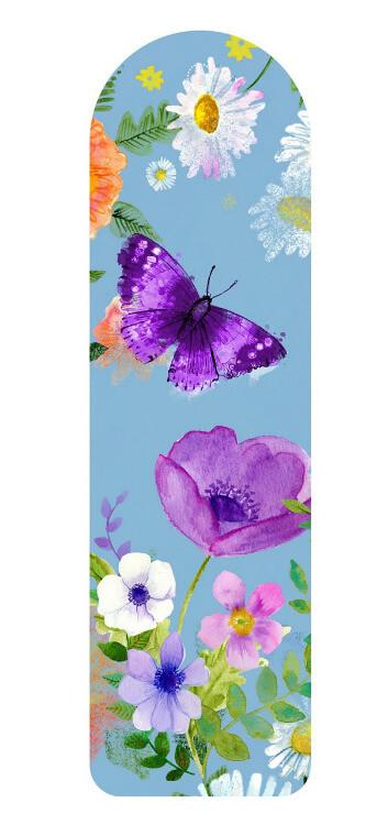 סימניה עם פרפר ופרח