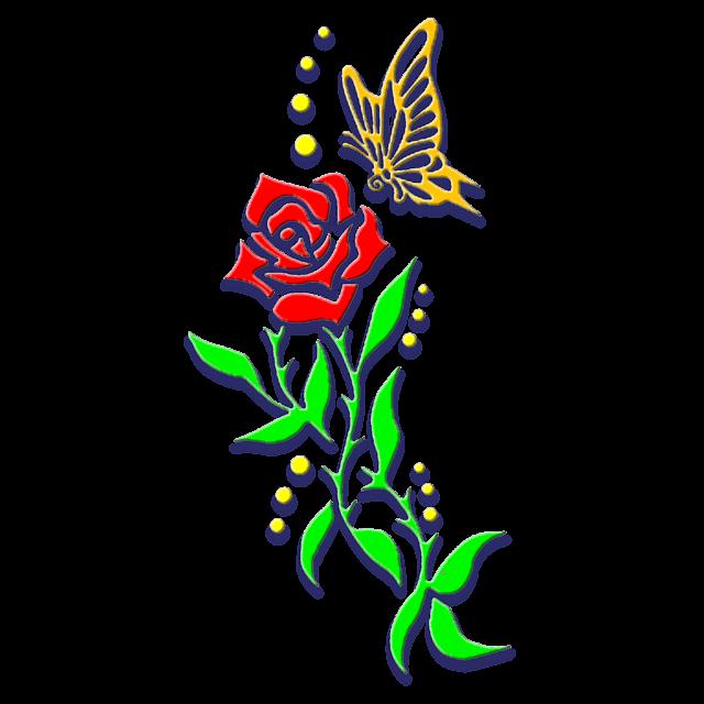 ציור של פרפר ופרח