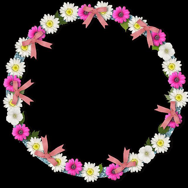 מסגרת עם פרחים