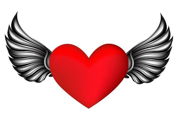 לב כנפיים מלאך