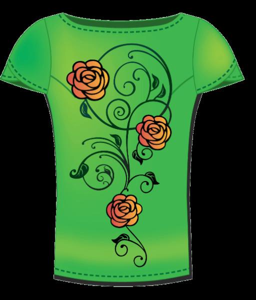 חולצה עם פרח