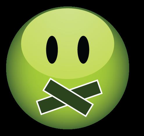 סמיילי ירוק שותק