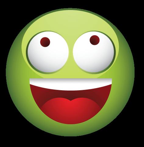 סמיילי ירוק משוגע