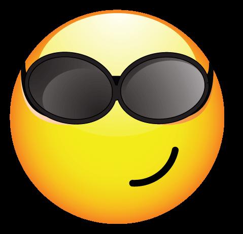 סמיילי עם משקפי שמש