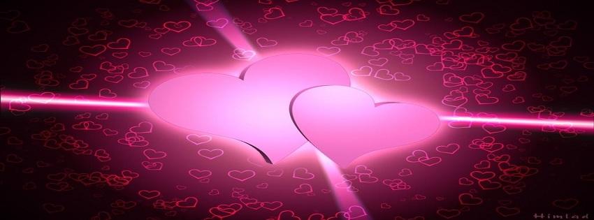 רקע לבבות לפייסבוק