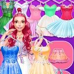 הלבשת בלרינה הוא משחק בו את צריכה להלביש רקדנית לפי הבגדים שיש לך והטעם שלך.