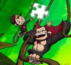 פאזל לילדים של ממלכת הקופים עם המון שלבים.