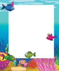 כרטיס ברכה עם דגים