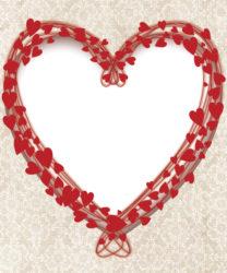 כרטיס ברכה לב אדום