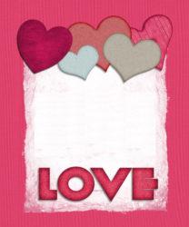 כרטיס ברכה עם love...