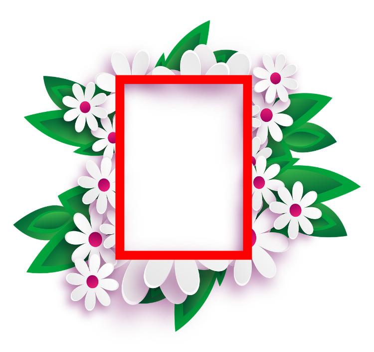 מסגרת פרחים לפסח