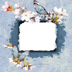 ברכה עם מסגרת כחול...