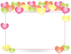 מסגרת מלבן לבבות
