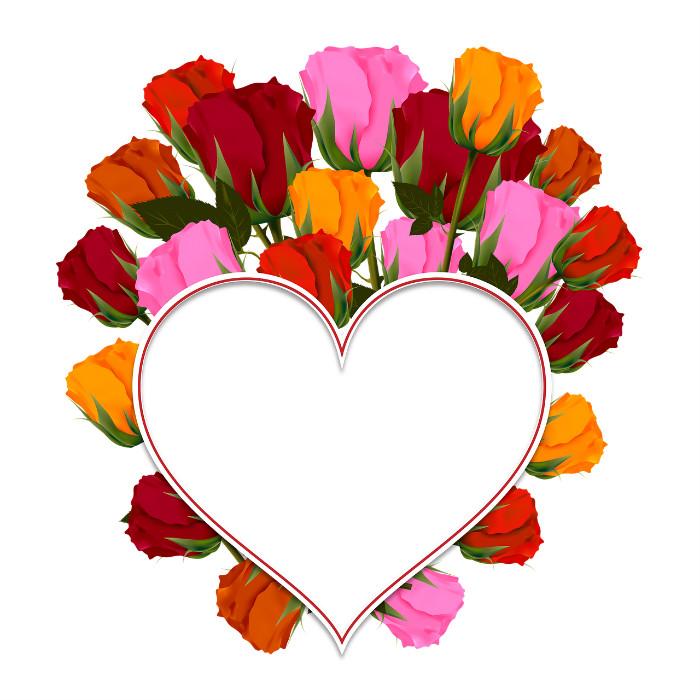 יום אהבה שמח פרחים