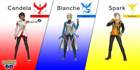 תמונת השחקנים והקבוצות פוקימון גו