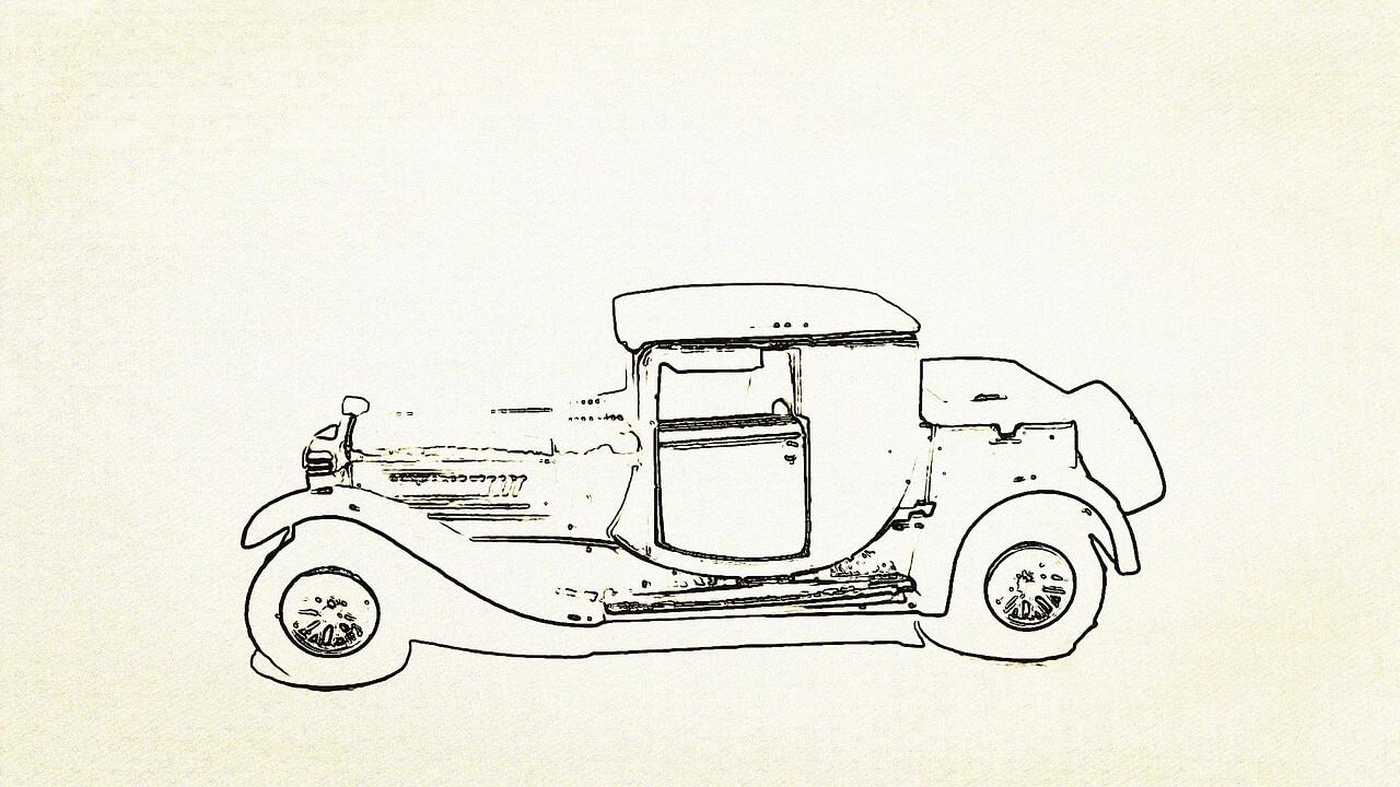 מכונית מצויירת