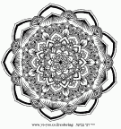 Beautiful mandala for painting