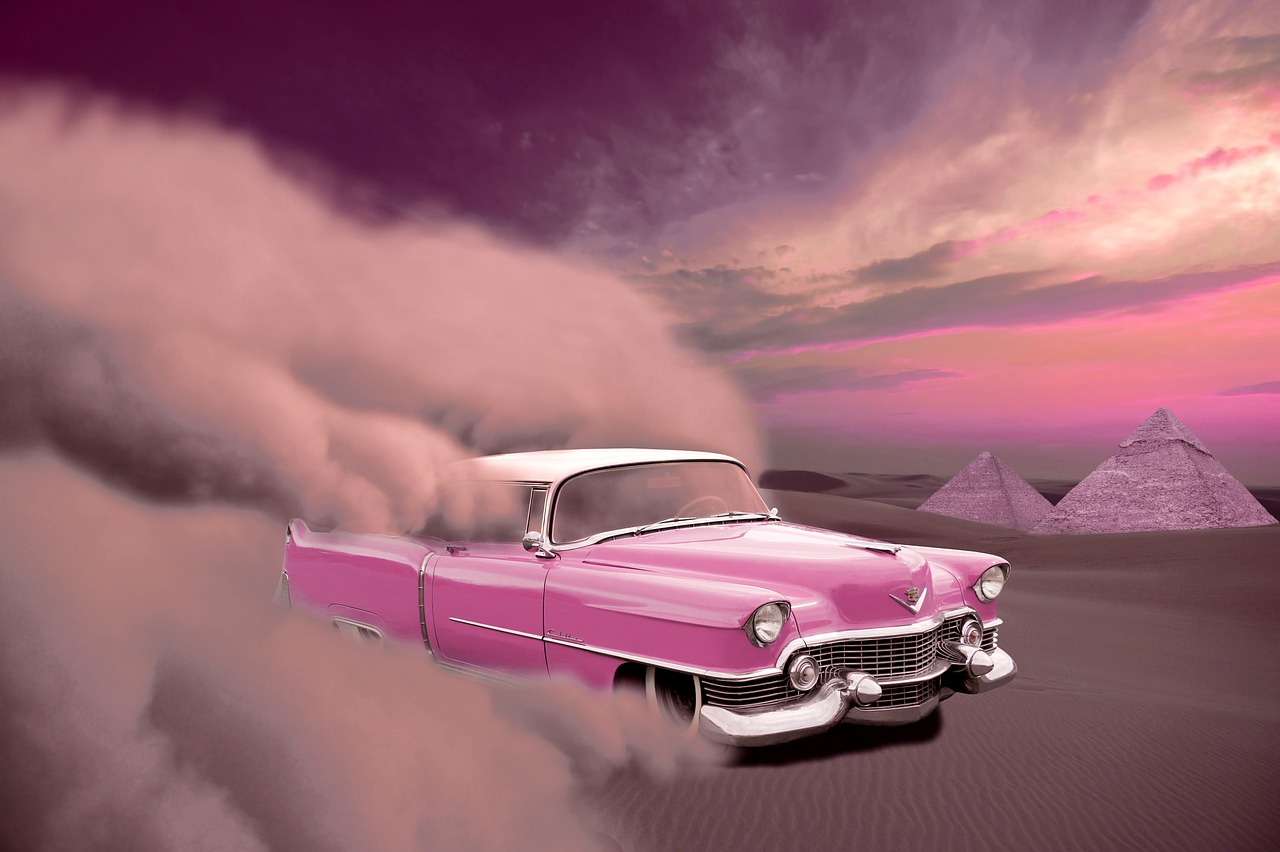 רקע של מכונית ורודה