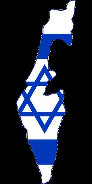 מפת ישראל דגל