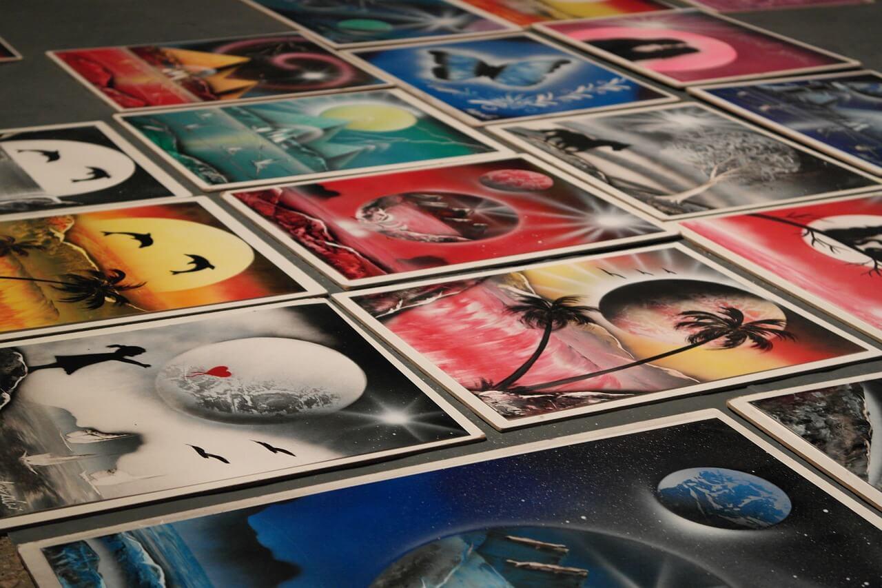 ציורים בספרי צבע