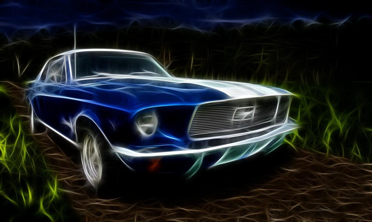 מכונית כחולה