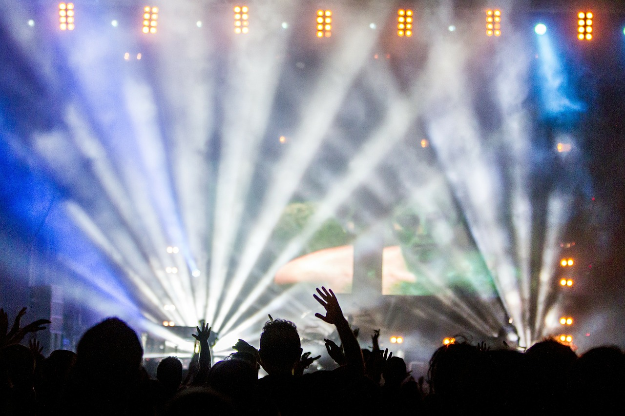 רקע של מסיבה - הופעה