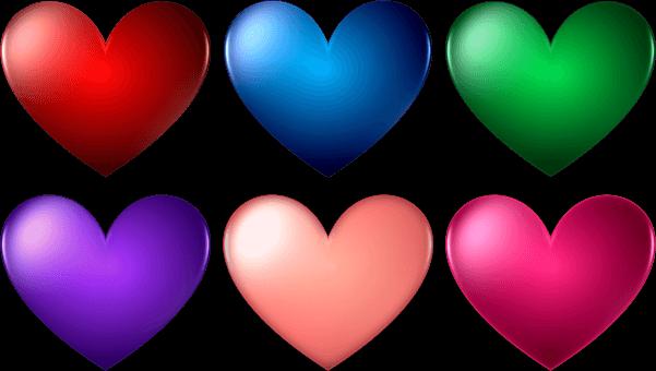 לבבות בצבעים