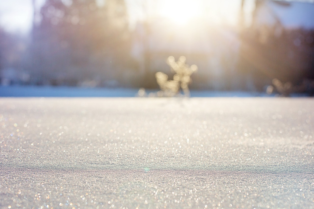 רקע של שלג