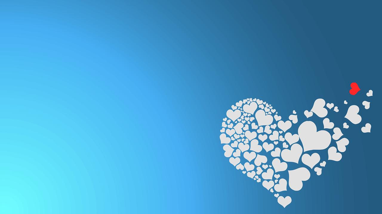 רקע של לבבות