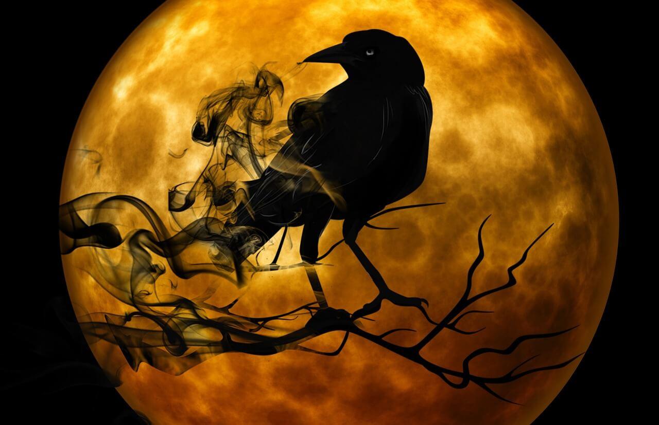 עורב וירח
