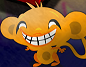 קוף עצוב שמח