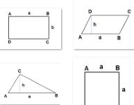מחשבון שטחים לצורות