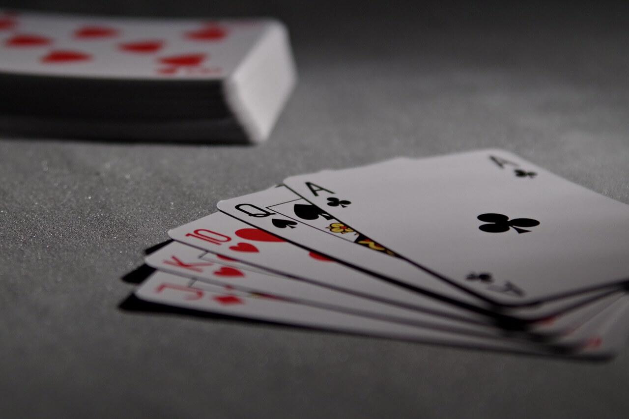 רקע של קלפים