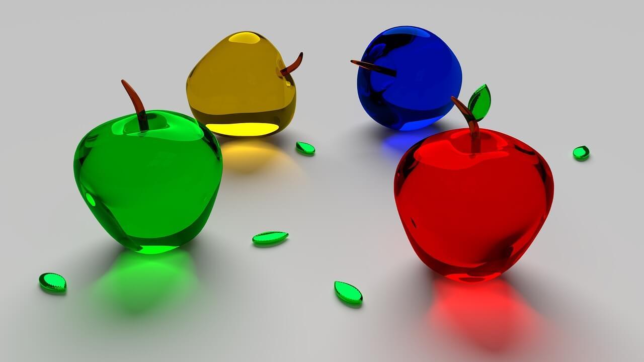 רקע תפוחים מזכוכית