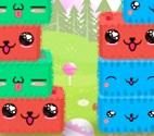 מגדלים חמודים הוא משחק בו אתם צריכים להזיז את היצורים כדי ליצור שלשות או יותר מאותו הצבע ברצף.