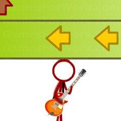 משחק גיטרות מגניב , כמו גיטר הירו , לחצו על הלחצנים והמספרים והצדדים בזמן הנכון כדי לנגן