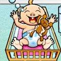 משחק בייביסיטר לשלישיות , משחק כיף של טיפול בתינוקות