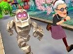 משחק ריצה עם הסבתא העצבנית, בואו לרוץ ברחבי יפה עם angry gran, בעטו באנשים, קפצו מעל סושי, אספו מטבעות והגיעו כמה שיותר רחוק