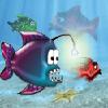 דג כועס ורעב רוצה לאכול את כל הדגים הקטנים ממנו , עזרו לו ותאכלו את הדגים הקטנים מכם בלבד , התחמקו מהדגים הגדולים