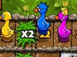 משחק כמו סולומות ונחשים רק עם ברווזים ועצים , יש מלא קוביות טובות ורעות בדרך לסוף , נסו עם מזל לגלגל את הקוביות הנכונות כדי להגיע לסוף ראשונים