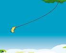 בננה נתלית על חוטים , כמו ספיירדמן , הבעיה של הבננה שבין קפיצה לקפיצה היא צריכה 2 שניות לנוח לפני שהיא יורה את החוט הבא לכן עליכם לתכנן מתי לירות ומתי לעזור כדי שיהיה לכם מספיק זמן לקפיצה הבאה , כמה רחוק תגיעו ?