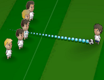 משחק בעיטות חופשיות מגניב , קצת קשה ממשחקים אחרים , צריך לכוון כיוון , סיבוב , גובה וכוח ולהכניס את הכדור לשער