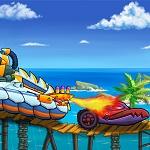 מכונית אוכלת מכונית בים