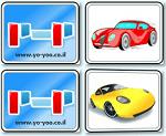 משחק זיכרון של מכוניות , כלי רכב , מצאו זוגות מתאימים של מכוניות
